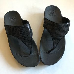 Shiny Black FitFlops